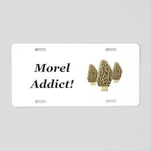 Morel Addict Aluminum License Plate