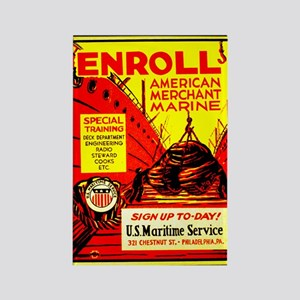 American Merchant Marine Rectangle Magnet