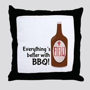 Better With BBQ! Throw Pillow