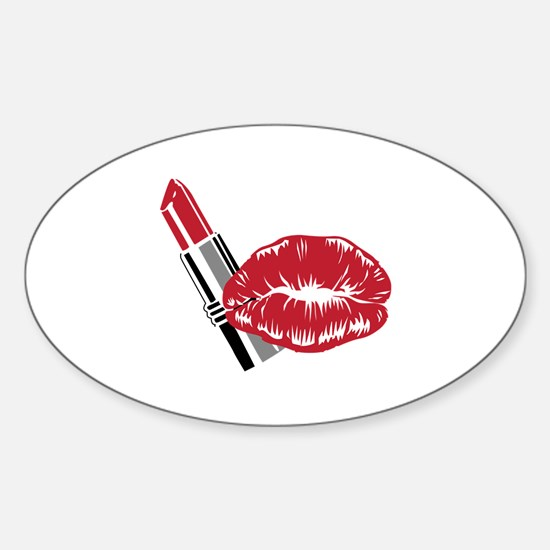 LIPSTICK AND LIPS Decal