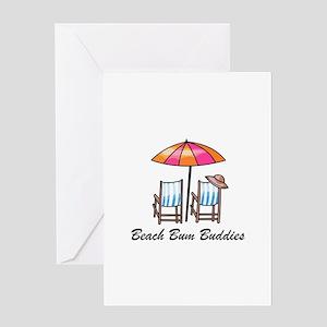 BEACH BUM BUDDIES Greeting Cards