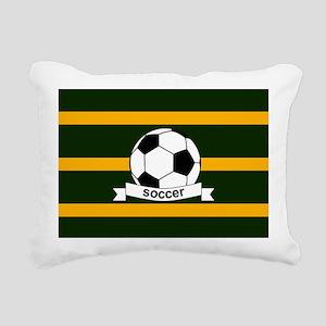 Soccer Ball Banner green Rectangular Canvas Pillow