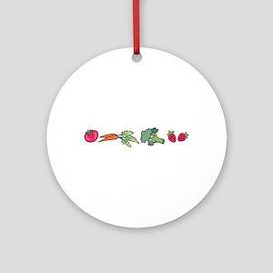 VEGETABLE BORDER Ornament (Round)