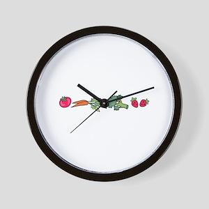 VEGETABLE BORDER Wall Clock