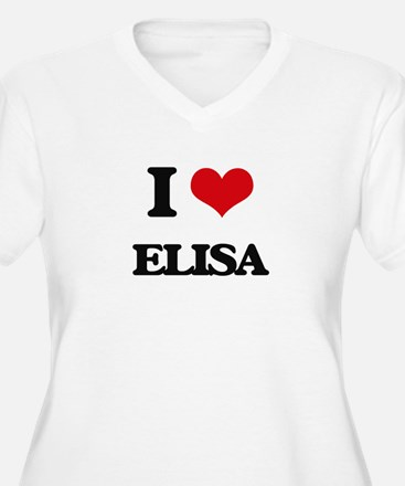I Love Elisa Plus Size T-Shirt