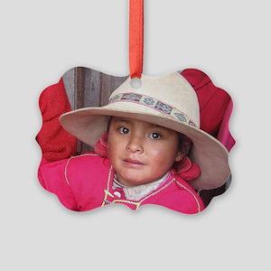 Quechua Doll Picture Ornament