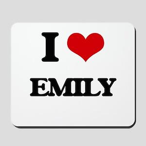 I Love Emily Mousepad