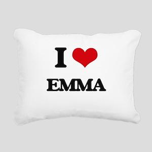 I Love Emma Rectangular Canvas Pillow