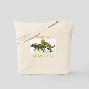 Herbivores: just better at life Tote Bag