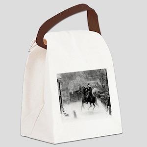 washington at trenton Canvas Lunch Bag