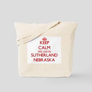 Keep calm we live in Sutherland Nebraska Tote Bag