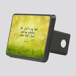 Scripture - Psalm 27:1 Rectangular Hitch Cover