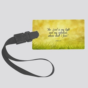 Scripture - Psalm 27:1 Large Luggage Tag