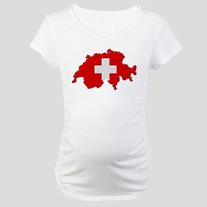"""Pixel Switzerland"" Maternity T-Shirt"