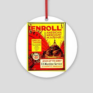 American Merchant Marine Ornament (Round)