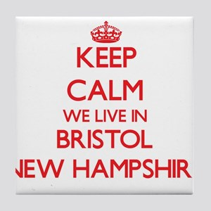 Keep calm we live in Bristol New Hamp Tile Coaster