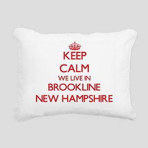 Keep calm we live in Bro Rectangular Canvas Pillow