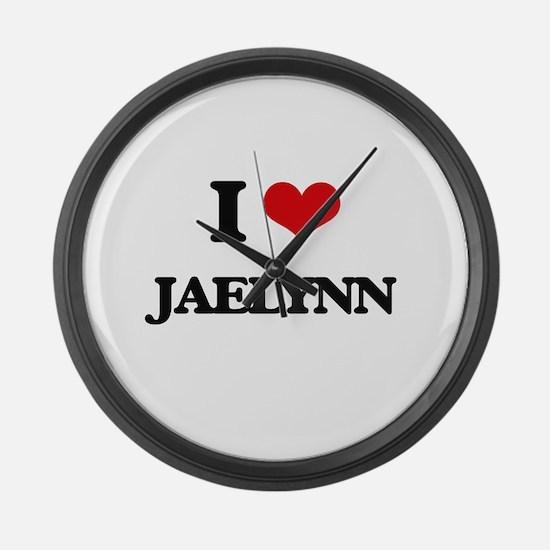I Love Jaelynn Large Wall Clock