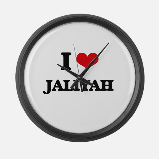I Love Jaliyah Large Wall Clock