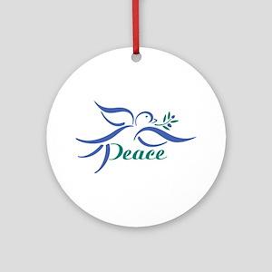 Dove Peace Ornament (Round)