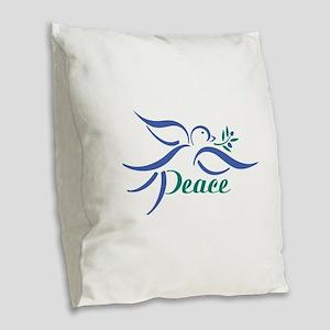 Dove Peace Burlap Throw Pillow