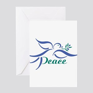 Peace symbol greeting cards cafepress dove peace greeting cards m4hsunfo Images