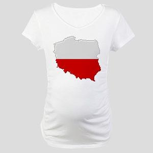 """""""Pixel Poland"""" Maternity T-Shirt"""