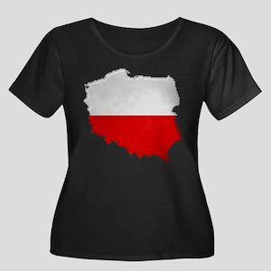 """Pixel Poland"" Women's Plus Size Scoop Neck Dark T"