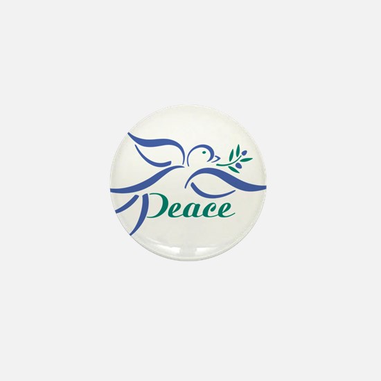 Dove Peace Mini Button