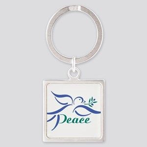 Dove Peace Keychains
