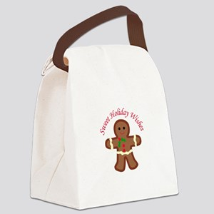HOLIDAY APPLIQUE Canvas Lunch Bag