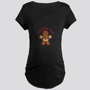 HOLIDAY APPLIQUE Maternity T-Shirt