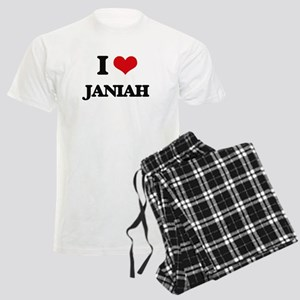 I Love Janiah Men's Light Pajamas