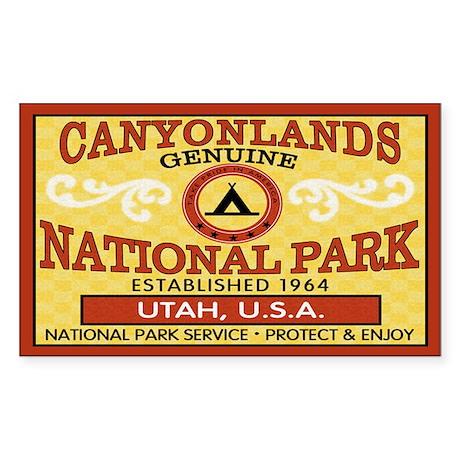 Canyonlands National Park Rectangle Sticker