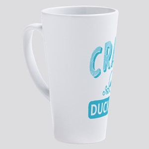 Crazy Duck Lady 17 oz Latte Mug