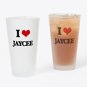 I Love Jaycee Drinking Glass