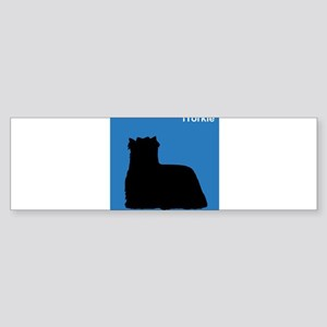 Yorkie (clean blue) Bumper Sticker