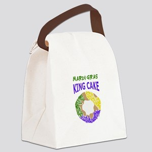 MARDI GRAS KING CAKE Canvas Lunch Bag