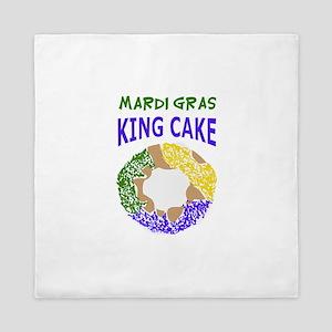 MARDI GRAS KING CAKE Queen Duvet