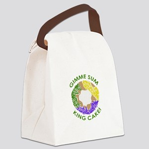 GIMME SUM KING CAKE Canvas Lunch Bag