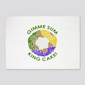 GIMME SUM KING CAKE 5'x7'Area Rug