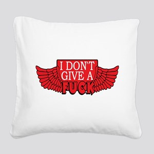 Flying Fuck Square Canvas Pillow