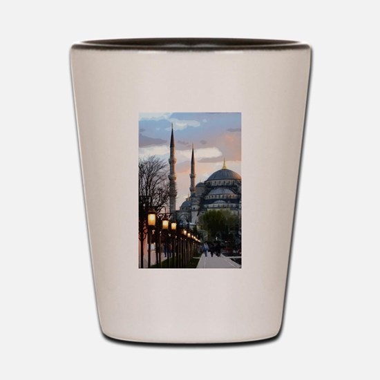 Mosque in Istanbul Shot Glass