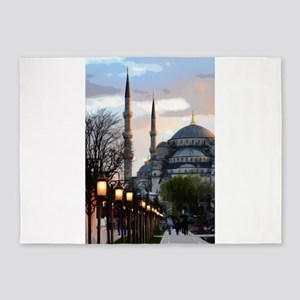 Mosque in Istanbul 5'x7'Area Rug