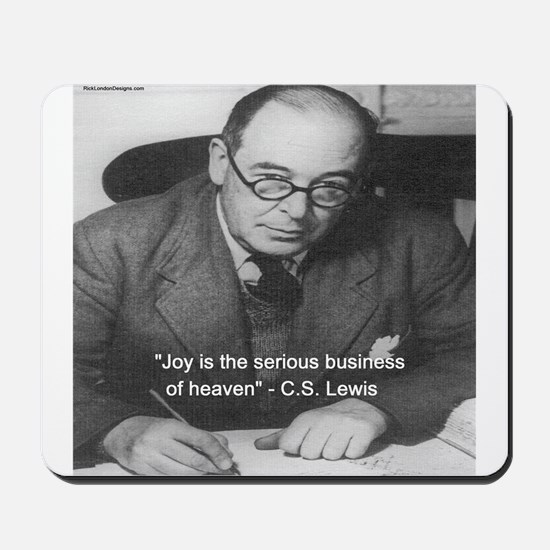CS Lewis On Joy Mousepad