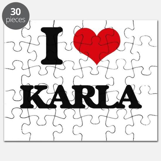 I Love Karla Puzzle