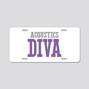 Acoustics DIVA Aluminum License Plate