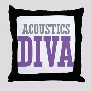 Acoustics DIVA Throw Pillow