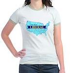 True Blue United States LIBERAL Jr. Ringer T-shirt
