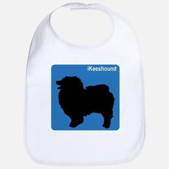 Keeshound (clean blue) Bib